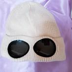 サングラスニット帽 オフホワイト
