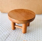 ごっこの丸テーブル(国産カツラ材)中古リペア品