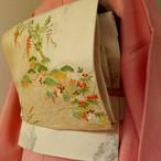 正絹 刺繍が美しい袋帯