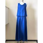 【hippiness】cupro layered one piece(blue) /【ヒッピネス】キュプラ レイヤード ワンピース(ブルー)
