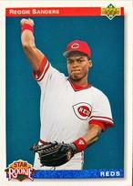 MLBカード 92UPPERDECK Reggie Sanders #027 REDS Rookie Card