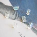 1950's チェコ クリスタルの結晶みたいな5角形チューブビーズ(4コ)