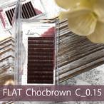 FLAT MAT チョコブラウン _ カール:C  太さ:0.15mm
