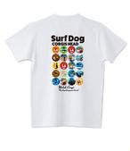 No.2021-spring-TS-003 :  缶バッジデザイン コーギー  バージョン2   Tシャツ5.6oz