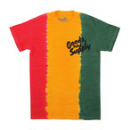 【Goods & Supply】Logo TiyDye Tee / Rasta Fade