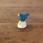 【にしおゆき】陶人形「青い鳥」