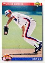 MLBカード 92UPPERDECK Wilfredo Cordero #016 EXPOS Rookie Card
