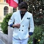 Italinan casual double jacket /white