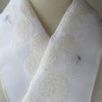 刺繍半衿・タンポポの綿毛オーガンジー(期間限定、いまだけ黄色半襟、白半襟の2枚もセット♪)