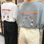 カップルプリントTシャツ(247239)
