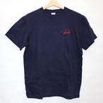 ロゴ刺繍Tシャツ ネイビー
