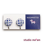 ■KASAMATSU-10 イヤリング。まる。〜ピアス変更可〜