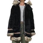 70's STERNS Black Eskimo Coat