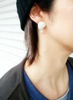 ミルキーピアス&イヤリング(大)/ Milky earring (Big)
