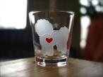 ボロニーズ彫刻グラス(ハート&クローバー)