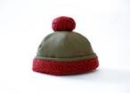 【20aw】ミチリコ(michirico) ponpon mocomoco CAP【カーキ】 キャップ