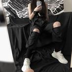 【bottoms】ストリート系配色ハイウエストカジュアルパンツ22441836