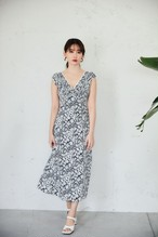 Lace Trimmed Floral Dress