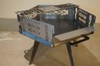 ペンタゴンファイヤープレート「スノーマン」&焚き火ガイド(ロゴ×4・曲げガイド×1)セット・オルテカモチーフ柄 CAMPOOPARTS