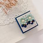 【*Hanairo】花色グラスケーキのイヤリング