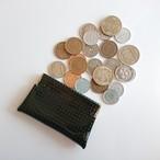 OSORO コインケースmini ☆ 黒ごま 小銭に指が届く 小さいけどたっぷりのコインを収納