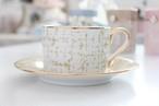 ツィード柄のカップ&ソーサー(ベージュ)
