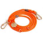 FOUND MY ANIMAL-RESCUE ORANGE ROPE DOG LEASH, ADJUSTABLE(ファウンドマイアニマル・レスキュー・オレンジ・ロープ・ドッグ・リーシュ・アジャスタブル)
