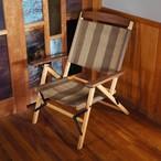 """[あと2脚] KachaKacha Mid Chair   """"Coffee Stripe""""(カチャカチャ チェア コーヒー ストライプ)"""