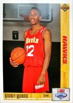NBAカード 91-92UPPERDECK Rodney Monroe #14 HAWKS