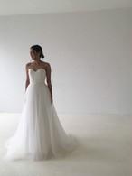 シンプル♡柔らかルチュールのAラインドレス♡どんなオケージョンにも◎