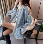 デニムもこもこジャケット デニムジャケット ジャケット 韓国ファッション