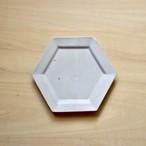 【石川 裕信】6角5寸皿(白)