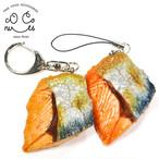 焼鮭 食品サンプル キーホルダー ストラップ