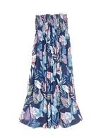 シャーリングドレス/スカート botanical navy