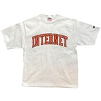 UNIVERSITY OF INTERNET TEE / SilverGrey×Orange
