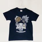 "MIKAZUKI / ミカヅキ ""TWO FACEDNESS"" Tシャツ インディゴブルー[ T-005 ]"