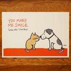 Love cats Love dogs2 ポストカード  (LCLDPC02)
