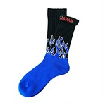 """Fire Burning -blue-"" Socks"