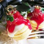 ラスト1点☆果肉入り苺ソースのパンケーキ ネックレス/バッグチャーム