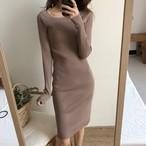 【dress】ニットワンピース定番シンプル着回せるレディースワンピース