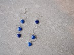 lapis lazuri heart earrings/pierce ※silver
