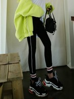 TOMバンドレギンス レギンス 韓国ファッション