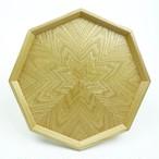 タモ 八角形のトレー OBTM-0162