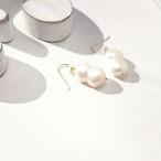 14kgf*Japanese TWIN freshwater pearl pierced earring/earring