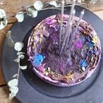 グルテン乳卵大豆フリー ローブルーベリーチーズケーキ15cm ネームプレート&ロウソクセット
