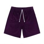 Cord Drawstring Shorts(Aubergine)