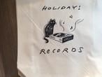 【アウトレット・激しいシワあり】猫とレコード柄トートバッグ