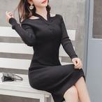 【dress】ロマンティックな雰囲気美しいシルエットワンピース25001632