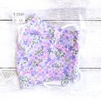 【おおやまとみこ】立体布マスク(紫小花)・レディースサイズ/マスク
