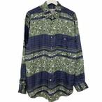 Dead Stock 90's GOOUCH Silk Shirt 【 GREEN 】